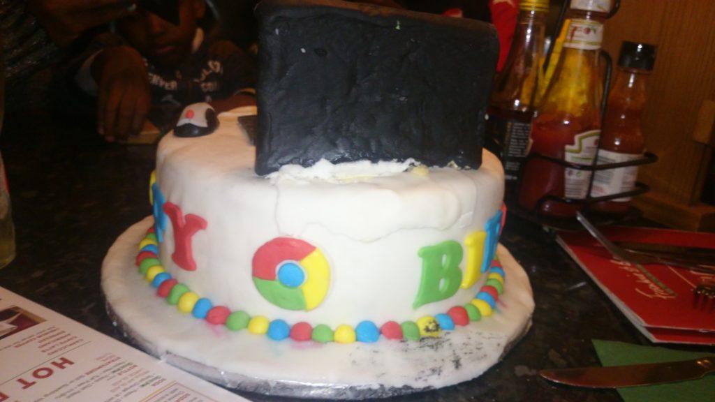 Google Chrome Birthday Cake