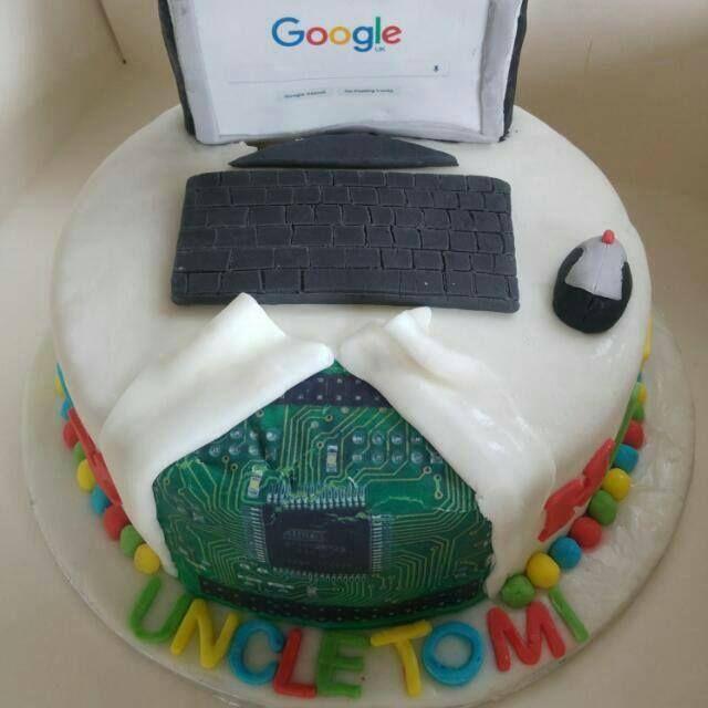 Remarkable The Technology Computer Science Cake Tomiwa Ogunbamowo Funny Birthday Cards Online Amentibdeldamsfinfo